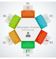 hexagon infographic elements vector image