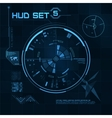 HUD and GUI set Futuristic User Interface vector image vector image