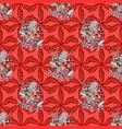 in asian textile style on colorful background vector image vector image