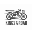 Kings of the Road typographic poster vector image vector image