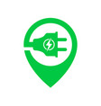 logo for electric car chargering station with plug vector image