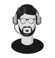 Male consultant in headphones icon vector image vector image