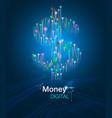 money digital concept vector image vector image