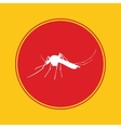 mosquito icon with red danger alert vector image