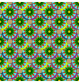 New colorful fractal flower on four leaves vector image