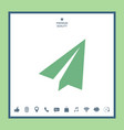 paper airplane icon vector image vector image