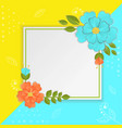 paper flowers and leaves on bright vector image
