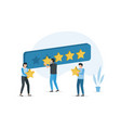 people are holding stars giving five star vector image vector image