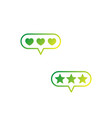 rating likes feedback icons on white vector image vector image