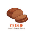 rye bread icon for vector image vector image