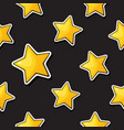 seamless pattern with falling gold stars vector image