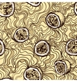seamless pattern with passion fruit vector image