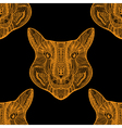 Seamless Tiger pattern vector image vector image