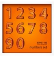 Set of numbers on wooden vector image vector image
