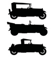 Silhouettes of vintage cabriolets vector image vector image