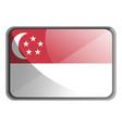 singapore flag on white background vector image