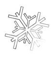 sketch draw snowflake cartoon vector image vector image