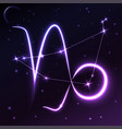 space symbol of capricorn of zodiac and horoscope vector image