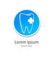 stomatology logo vector image