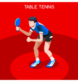 Table Tennis 2016 Summer Games 3D Isometric vector image vector image