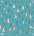 teal teardrop raindrop seamless pattern vector image