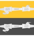 Three step Timeline infographic ribbon Origami vector image