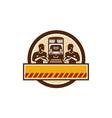 Train Engineers Arms Crossed Diesel Train Circle vector image vector image
