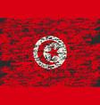 tunisia flag brush painted tunisia flag hand vector image