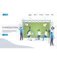tv production website landing page design vector image