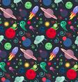 UFO cosmos pattern vector image
