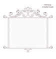 vintage antique decorative frame is made in vector image vector image