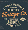 vintage typography for t shirt print new york vector image vector image