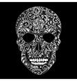 white floral skull vector image