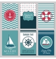 Marine banners or summer nautical invitation cards vector image