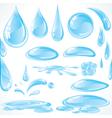 water design elements vector image