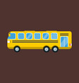 city yellow bus isolated road vector image