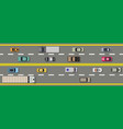 collection of various vehicles top view road vector image
