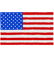 Painted USA flag vector image