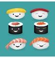 Sushi set Asian food vector image