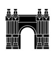 triumphal arch icon black vector image