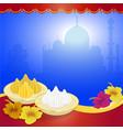modak of lord ganpati on ganesh chaturthi vector image