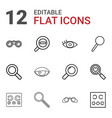 12 optical icons vector image vector image