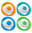 3d colorful circle elements editable graphic vector image vector image
