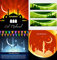 attractive set of background and banner of eid vector image vector image