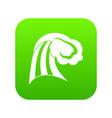 big wave icon digital green vector image vector image