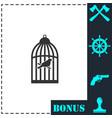 birdcage icon flat vector image