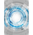 Blue hi-tech abstract gears background vector image vector image