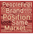 Brand Your Business text background wordcloud vector image vector image