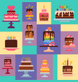 cake shop pattern chocolate vector image vector image