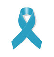 cancer icon with blue awareness ribbon on white vector image